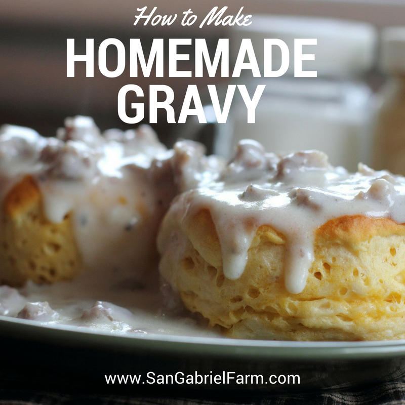how to make homemade gravy for biscuits without sausage