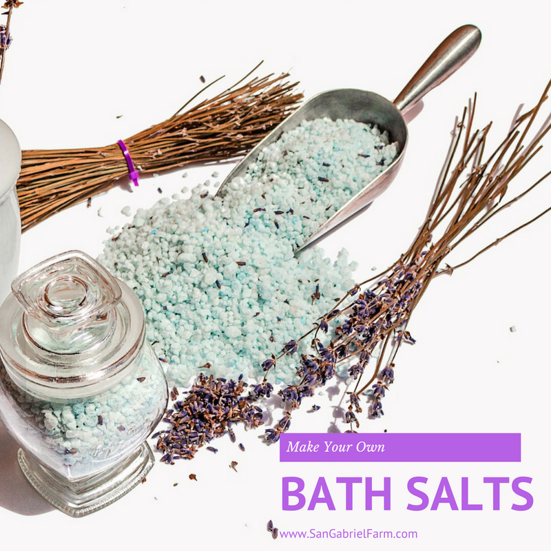 making your own bath salts