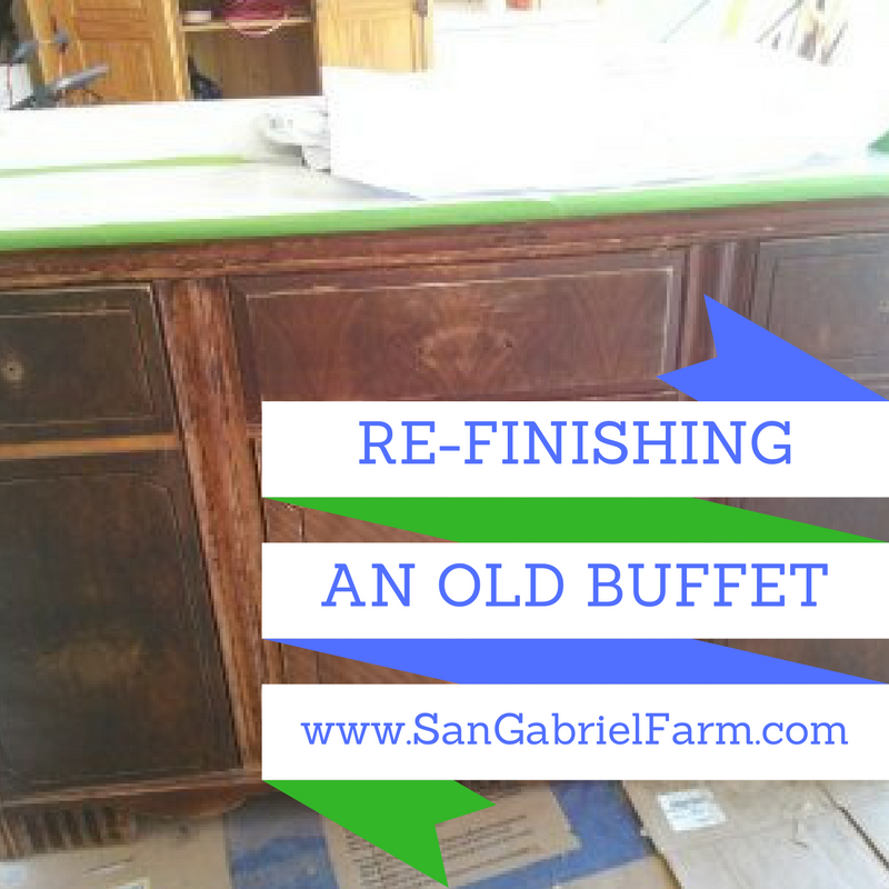 re-finishing an old buffet