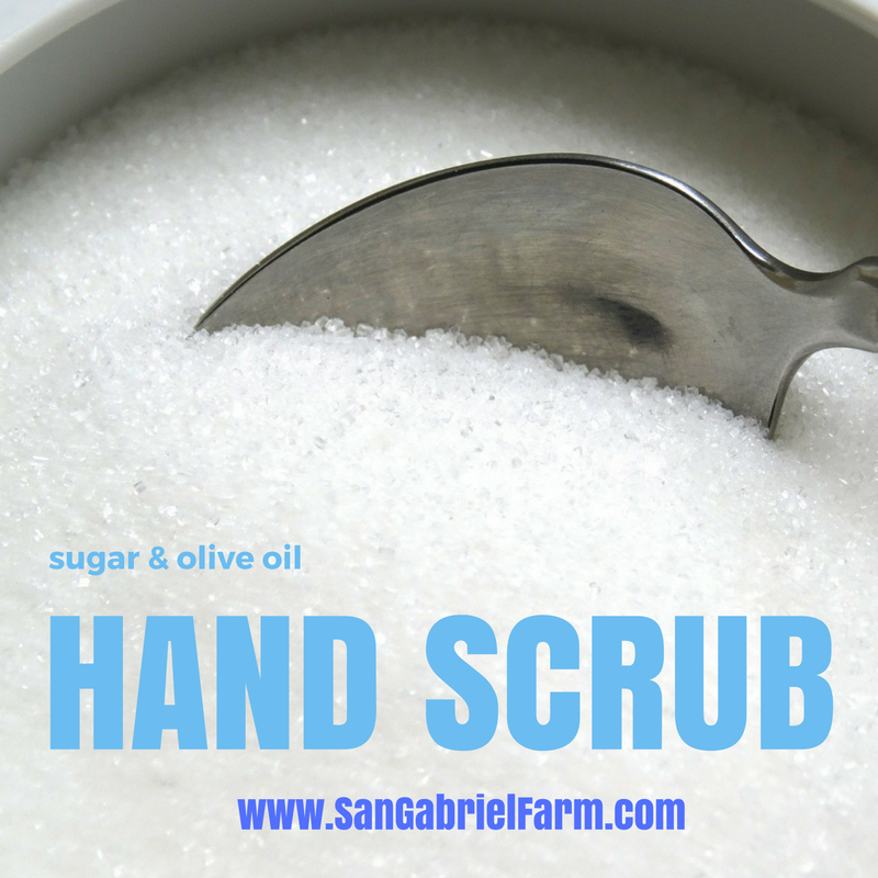 sugar and olive oil hand scrub