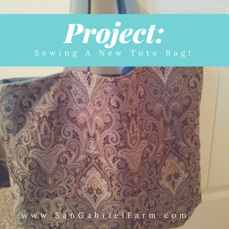 sewing a new tote bag