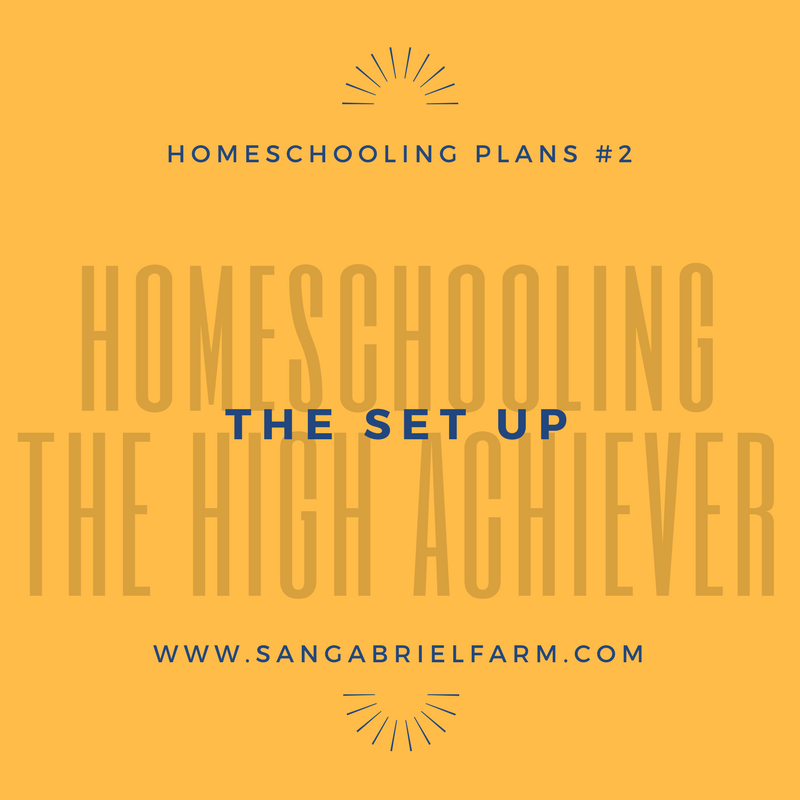homeschooling the high achiever the set up