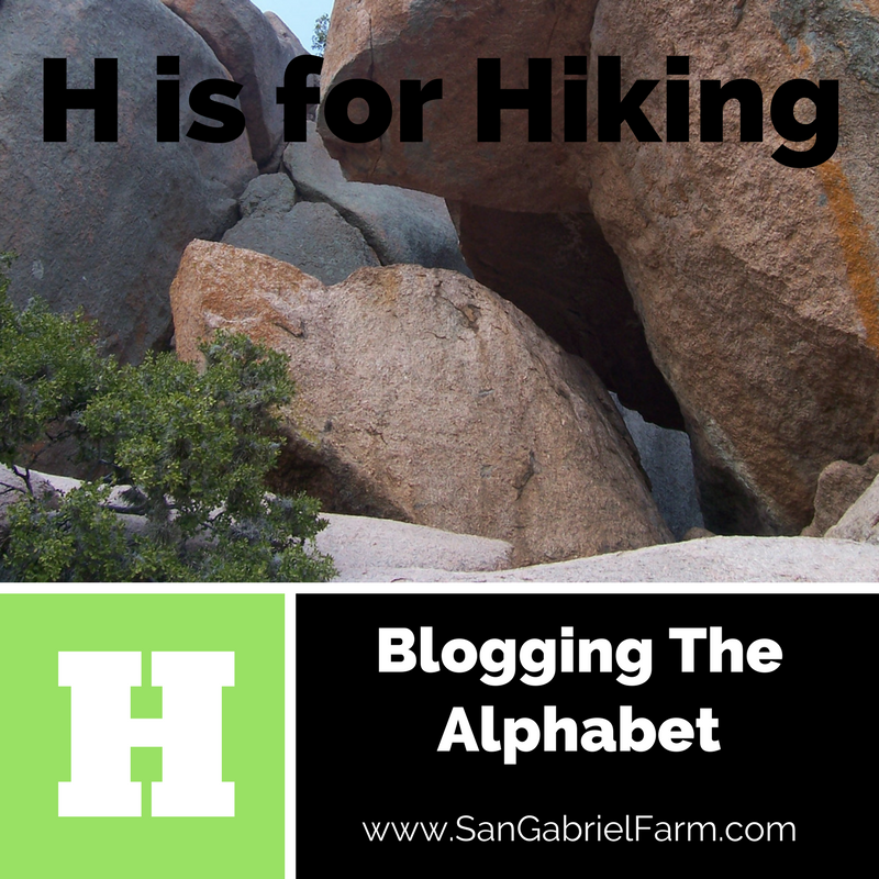 h is for hiking
