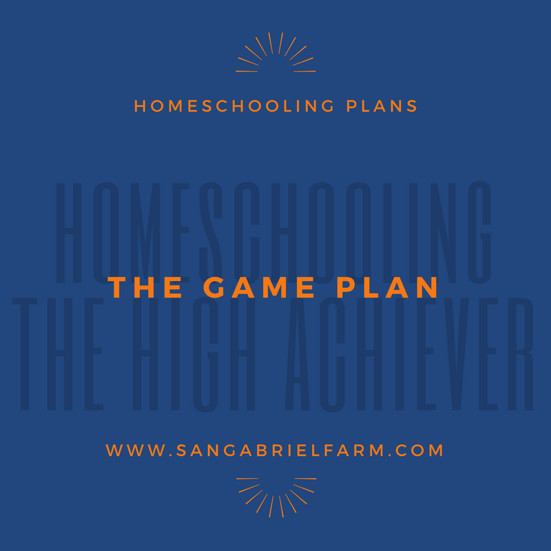 homeschooling the high achiever the game plan