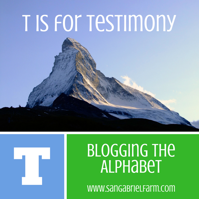 t is for testimony