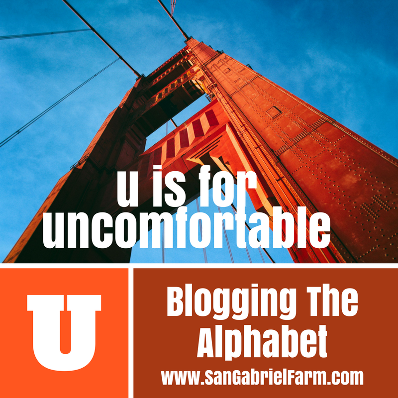 u is for uncomfortable