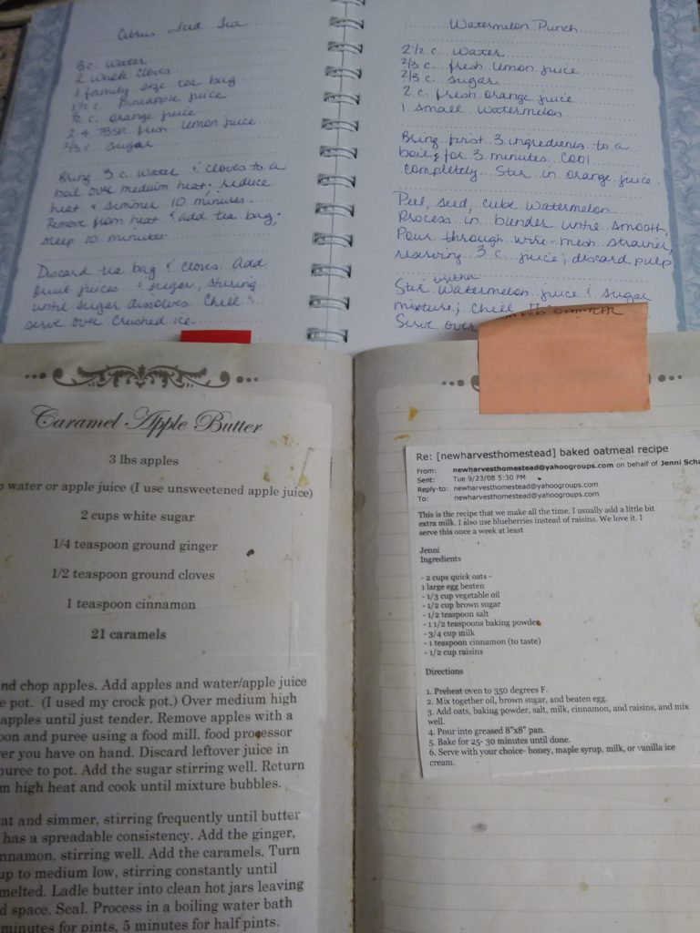 homemade cookbooks